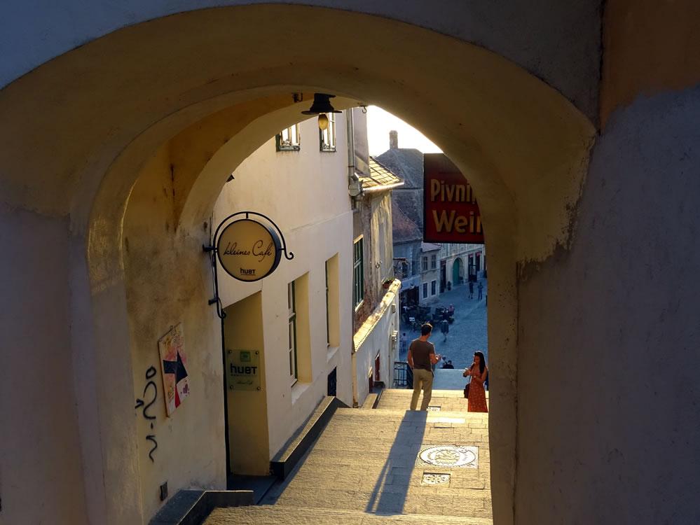 Vedere spre strada Turnului