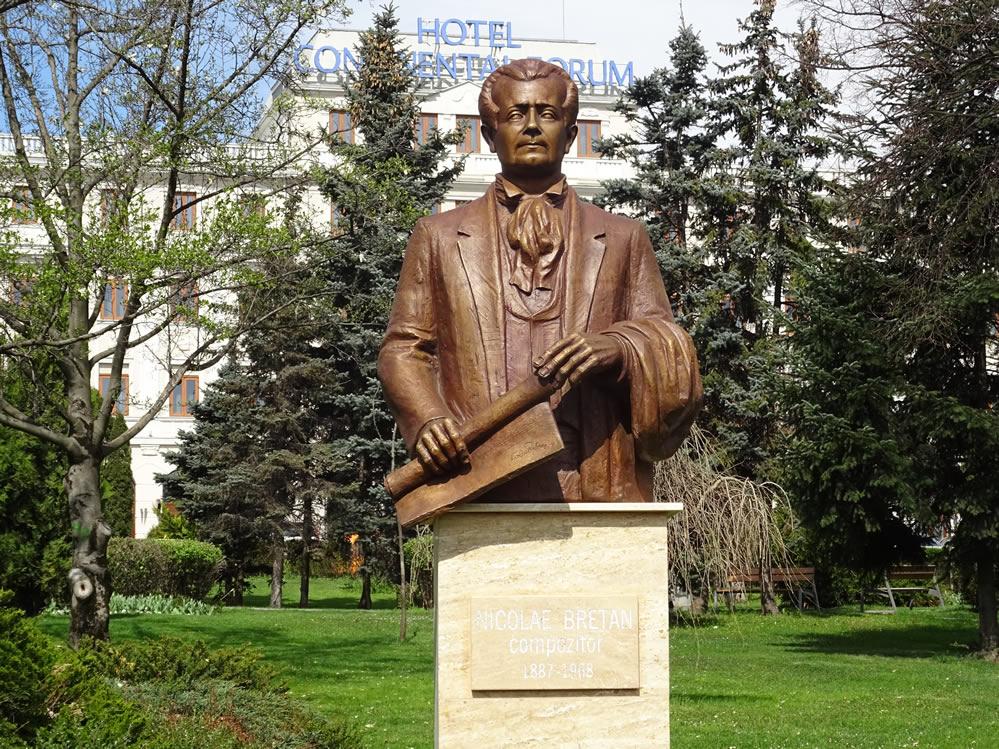 Bustul compozitorului Nicolae Bretan