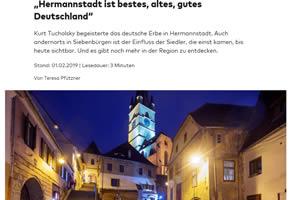 """""""Hermannstadt ist bestes, altes, gutes Deutschland"""""""